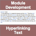 Module Development - Hyperlinking Text