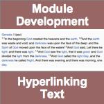 Module Development - Hyperlinking Text